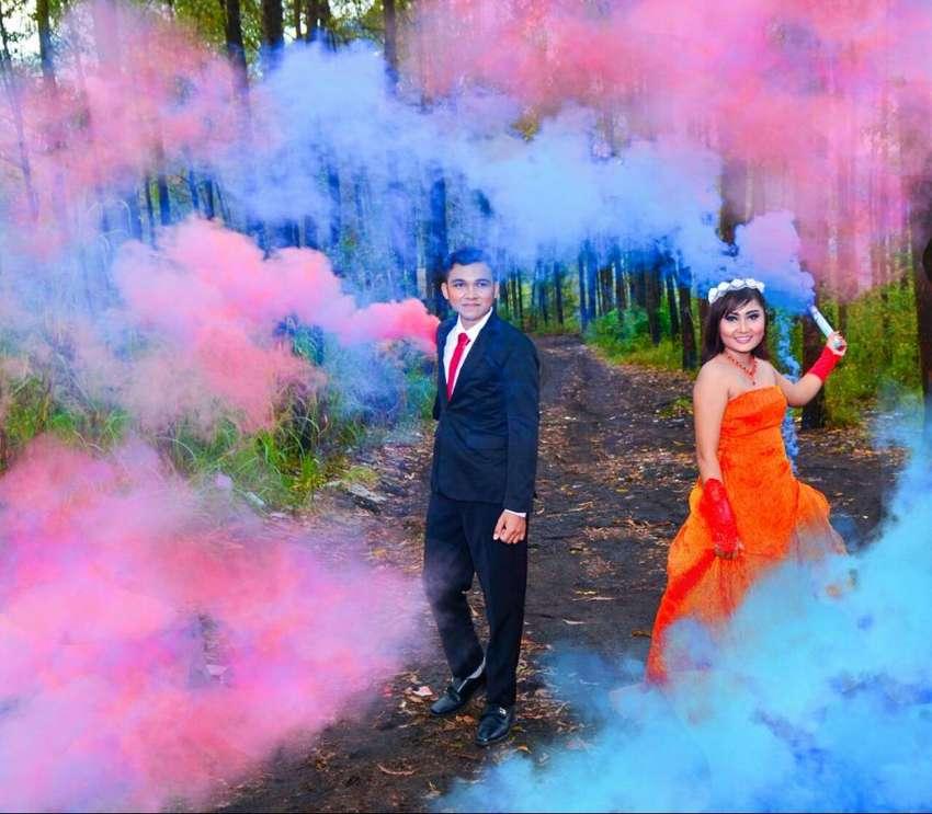 Pipa Asap Smokebomb dan Holi Powder atau Serbuk Warna (flare) 0