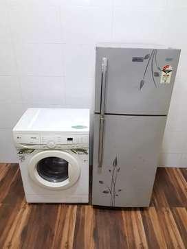 Electrolux Flower 240ltr double door refrigerator n washing machine