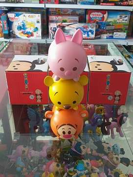Action Figure Tsum Tsum Piglet Pooh Tiger Model Celengan Koin