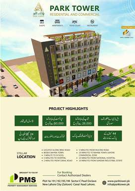 one Bed Apartment on 2nd Floor for Sale Zaitoon New Lahore City