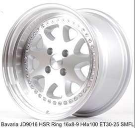 JUAL VELG HSR WHEEL: BAVARIA JD9016 HSR R16X8/9 H4X100 ET30/25 SMFL