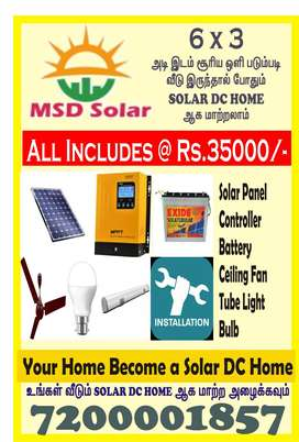 Solar DC Home  at Rs.35000/-