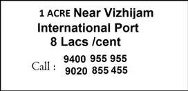 1 Acre Near VIZHIJAM ADANI PORT