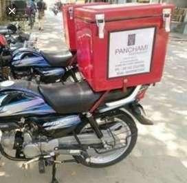 Bike delivery box pizza