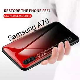 Glass Case Samsung A70 Original