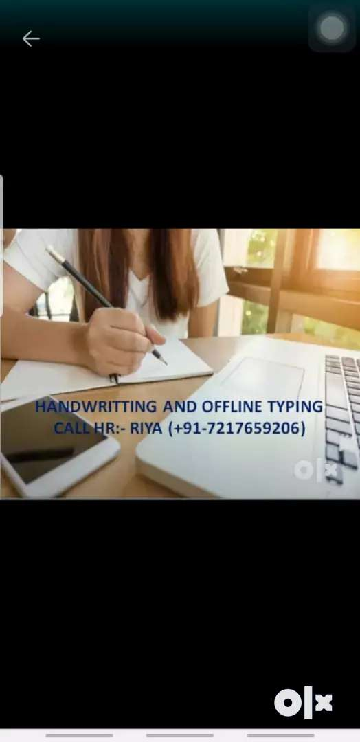 Work from home writting ya typing 0