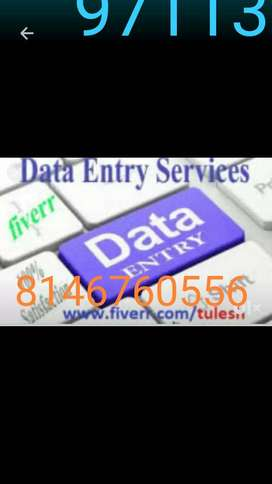 Get good payment on home based data entry jobs with typing skill