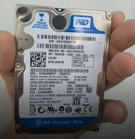 640gb wd laptop hard disk (SATA) Can be used with desktop too
