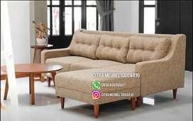 Sofa retro kaki panjang