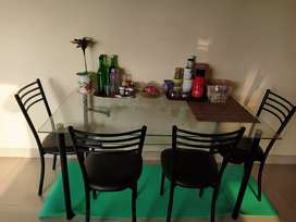 Double layer glass top dining table, like new