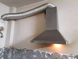 kaff chimney (steel finished) with pipe (aluminium)