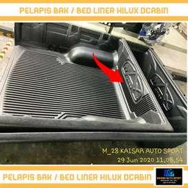 Bed liner/alas bak/lapis bak mobil hilux dcabin dcabin