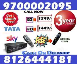 Tata Sky New HD BOX-Tatasky Dish D2H videocon Dish DTH piano