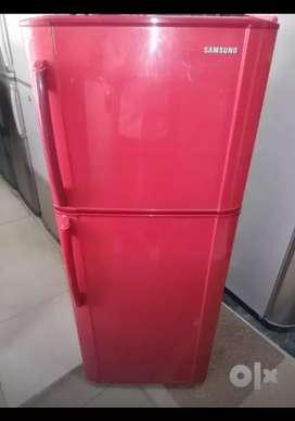 Samsung double door fridge in red colour 250liters
