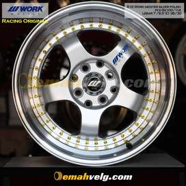 JUAL VELG R16 Work meister silver polish (YARIS,JAZZ,SWIFT)OEMAH VELG