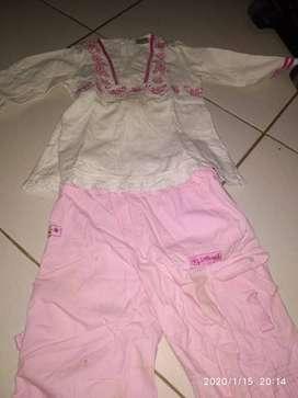 Obral 5 pcs baju bayi 2 thn kwalitas baju masih bgs d ber merk