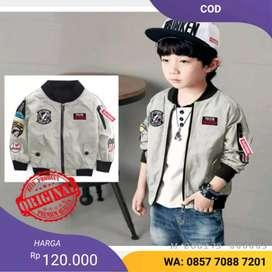 Jaket bomber pria Mickey kids (COD)