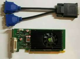 Nvidia NVS 315 1 Gb Graphics card with conveter and dual display