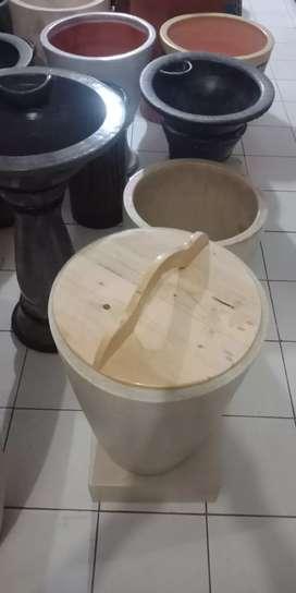 tutup kayu jati belanda ukuran diameter 60