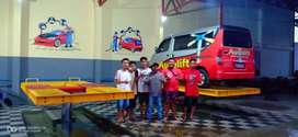 Sukses bisnis carwash bersama Autolift, hidrolik mobil H track, murah