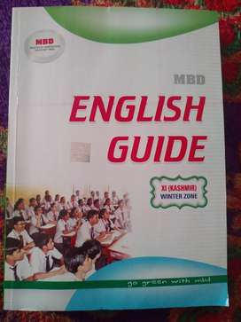ENGLISH GUIDE ( CLASS 11TH-KASHMIR WINTER ZONE) FOR SALE MTG