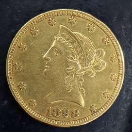 Uang emas amerika 10d