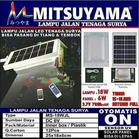 lampu jalan tenaga matahari solar panel + remote mitsuyama 18 watt RP.