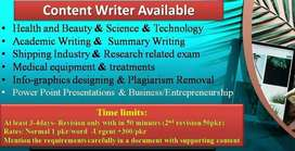 Article Writer Available