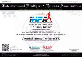 I'm certified fitness trainer  personal training home trainings