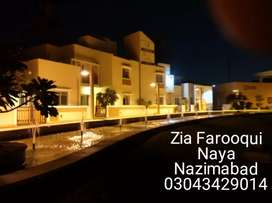 240 yards leased in hand map approved block C Naya Nazimabad