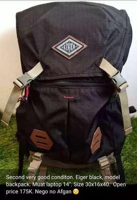Tas eiger black backpack