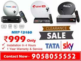 New Offer On Tata sky With 6 Month Free Tatasky Airtel DishTV Videocon