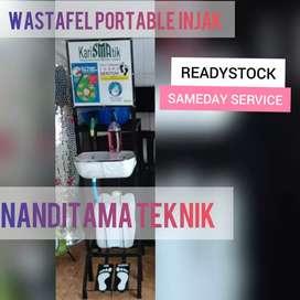 Jual wastafel portabel (wastafel portable, injak, tnpa sentuh tangan)