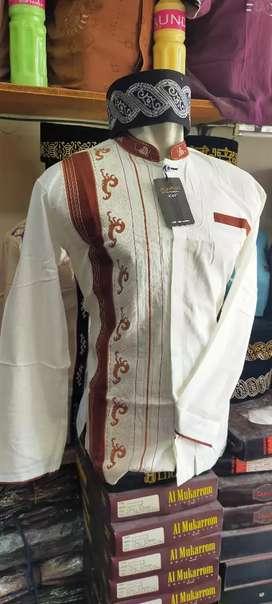 Baju taqwa/koko lengan panjang bordir samping kualitas super istimewa