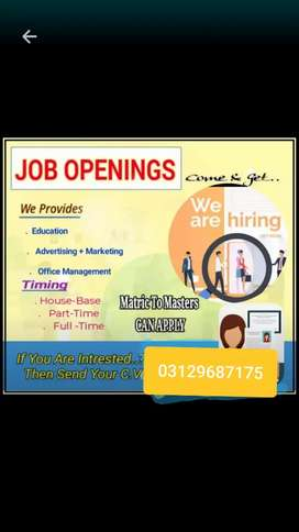 Job opportunity for everyone