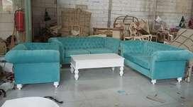 Sofa tamu sofa retro