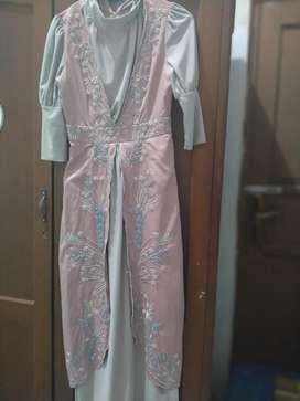 Dijual dress solemio Abu pink Ukuran S