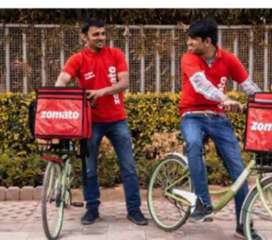 Cycle Food delivery (zomoto)part time and full time job