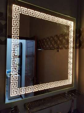Versace LED Lighted Bathroom Mirror - 20 x 20 Inch Wall Mounted