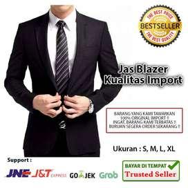 (Bisa COD) Jas Blazer Pria 2 in 1 Kualitas Lembut & Import