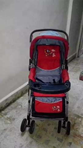 Stroller  black and Red