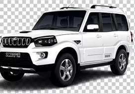 My car mahindra scorpio s6+IH 2W.diamond white diesel /hybrid
