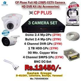 CP PLUSE 3 cam set dvr 1tb hdd 1bundel wire installation all ready