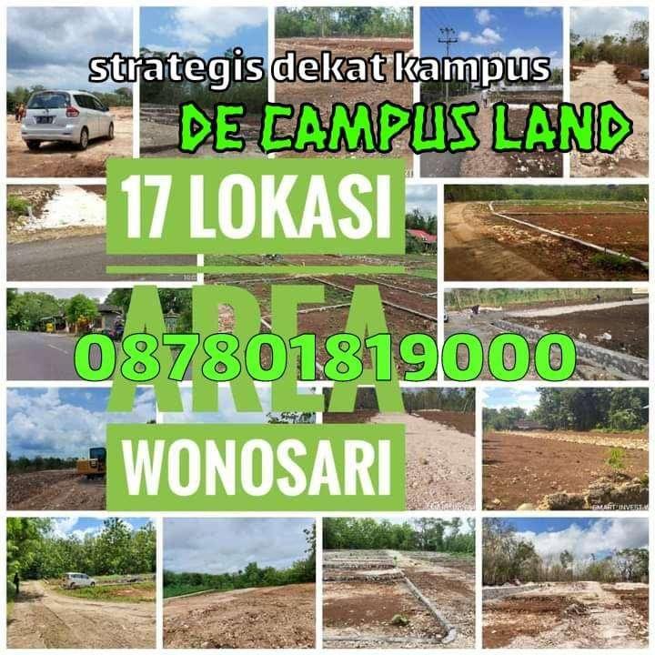 tanah murah gunung kidul cck rumah kos dekat kampus ( de campus land )