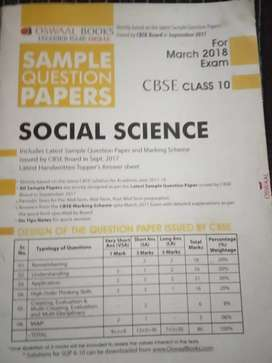 Sample question papers of social science  class 10th