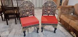 Chinyoti Chairs Pair For Sale