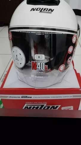 Nolan n405 half face white