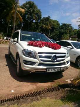 BENZ GL 350 for rental with driver for marriage etc