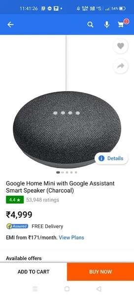 Google nest home mini just 1750/- best price