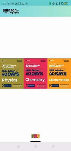 Jee mains maths , physics,chemistry in 40 days